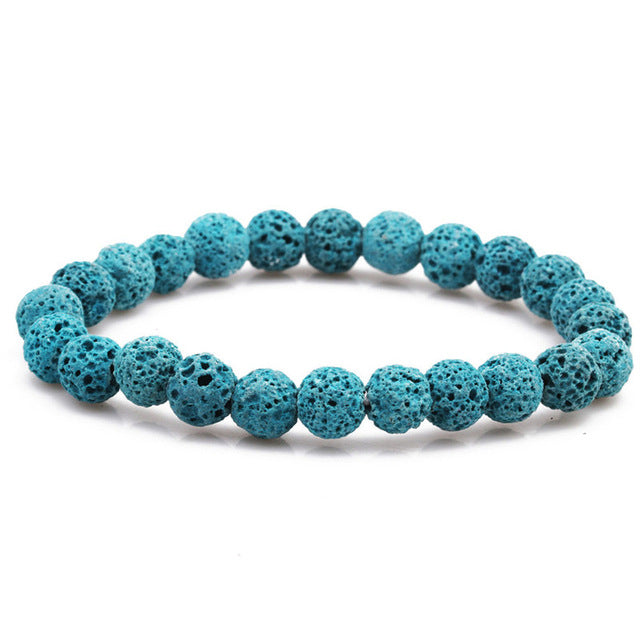 Aromatherapy Lava Stone Bracelet with Essential Oil
