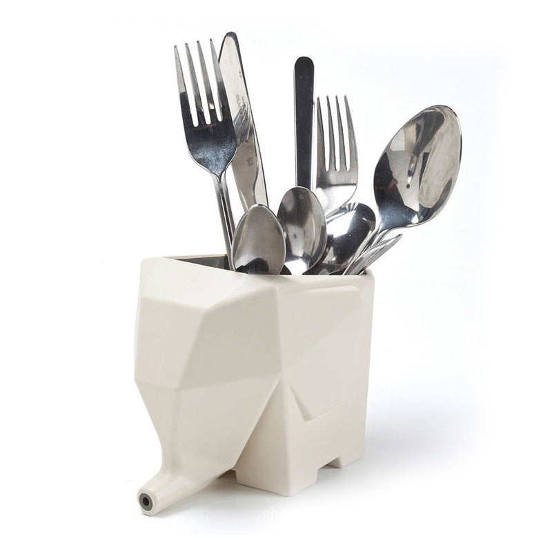 Elephant-shaped Cutlery Drainer