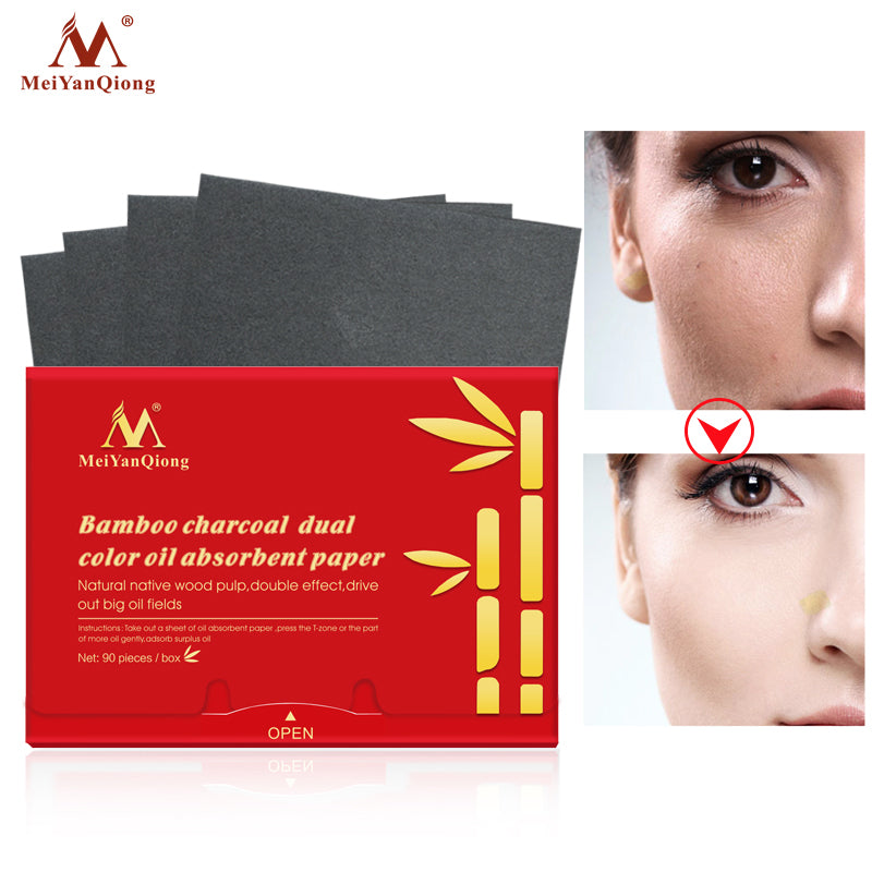 Bamboo Charcoal Oil Absorbing Paper (90pcs)