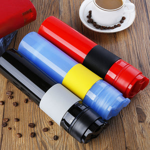 Portable French Press Coffee Bottle