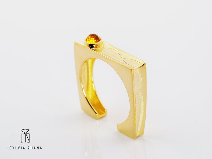 Sun and Mountain Men's Ring 太阳与山男戒
