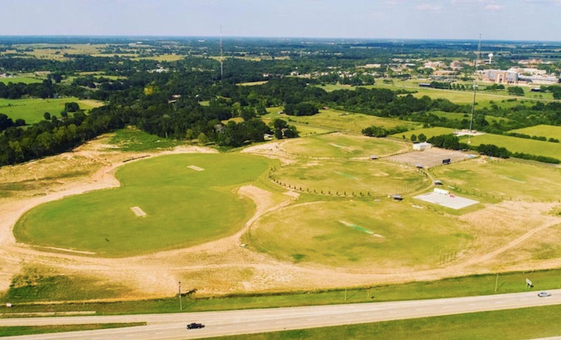 Arial view of Kalsoom Prairie View Cricket Complex in Houston Texas.