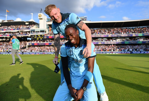 Jofra Archer with Ben Stokes