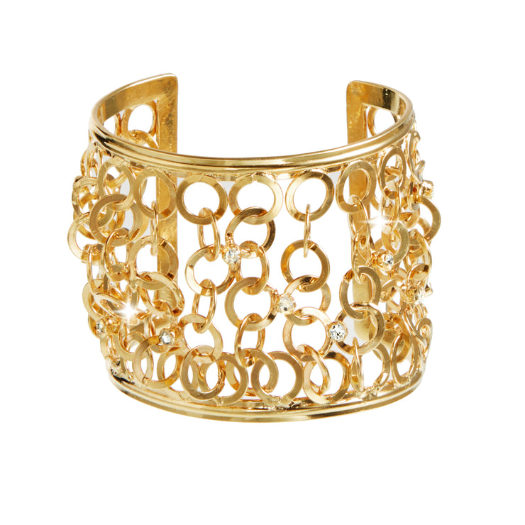 "HARPER HALLAM ""Solid Gold Dancer"" • Open Circle Link Cuff in Gold"