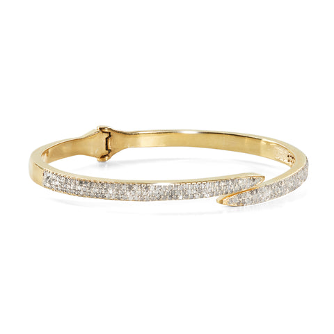 HARPER HALLAM || A BFF Gets the Point Diamond Spike Bangle (Yellow Gold) (front view)