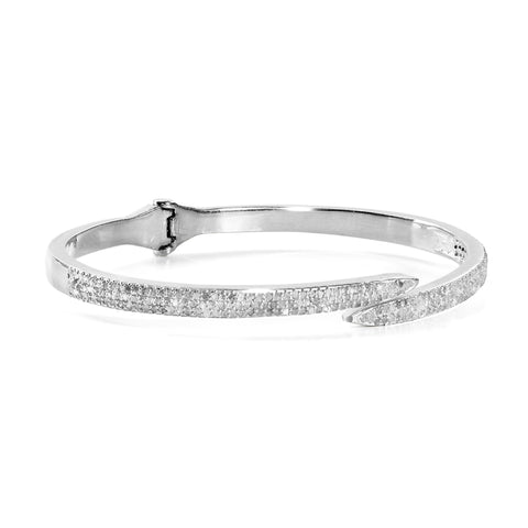 HARPER HALLAM || A BFF Gets the Point Diamond Spike Bangle in Silver (Front View)
