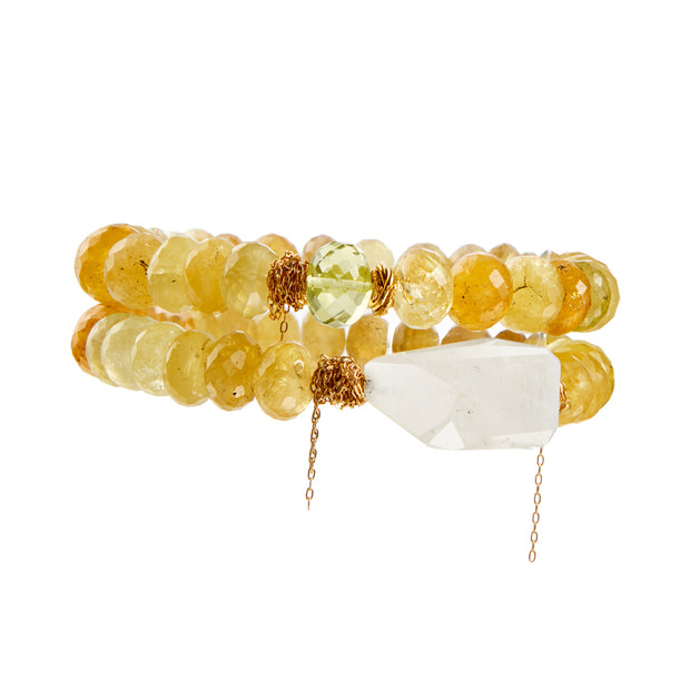 """You're a Sunflower"" • Faceted Citrine Stretchy Bracelets"