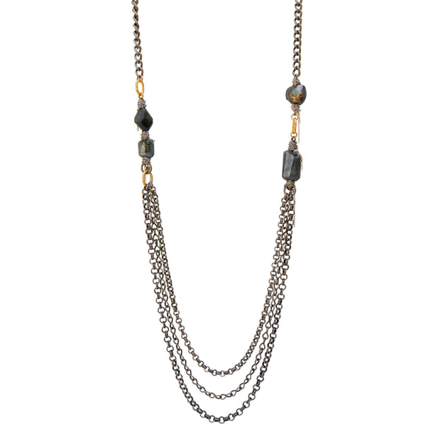 LUXE ALL NIGHT • Raw Labradorite Necklace