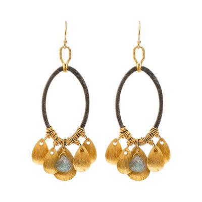 SHAKE IT OFF • Oval Earrings & Gold Drops