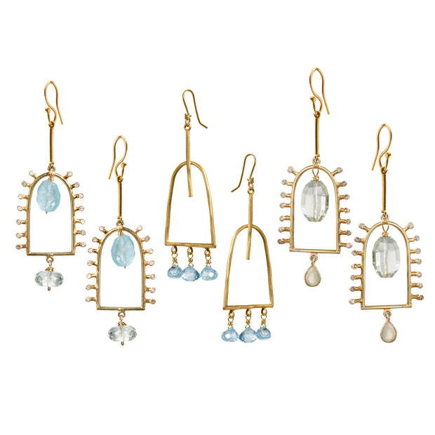 WINDOWS TO OPPORTUNITY • Drop Earrings with Gems