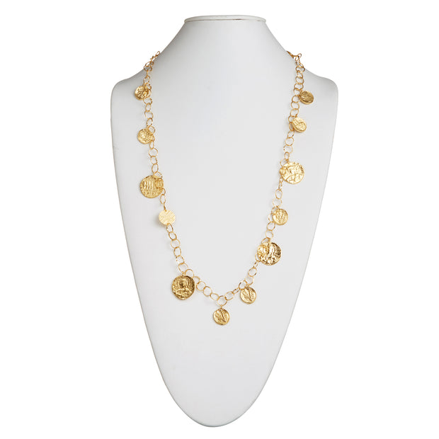 "HARPER HALLAM • ""My Sweet Moneda"" Gold Coin Necklace"
