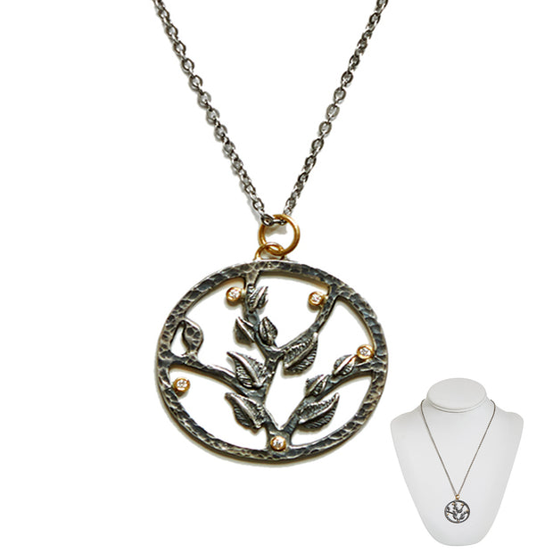 """Go Ahead, Shake That Tree"" • Tree of Life Necklace in 24k Gold"