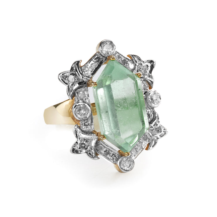 "HARPER HALLAM • ""Classy Lady"" Tourmaline and Diamond Ring. And with this stunning Light Green Tourmaline and Diamond Ring on your hand . . . how can you not be ready to shine, gf? This selection is for a magnificent tourmaline and diamond ring -- one of our faves for sure."