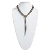 "HARPER HALLAM • ""Ecsta-Sea is What I Need"" Silver Multistrand Lariat"