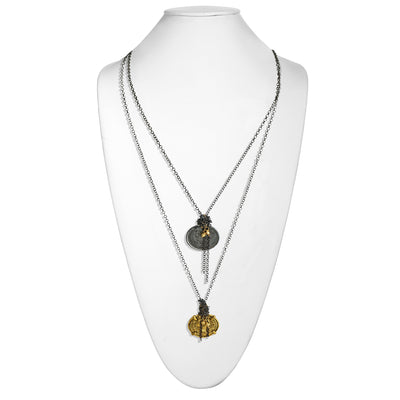 SO HEATHER • Layered Necklace with Two Coins