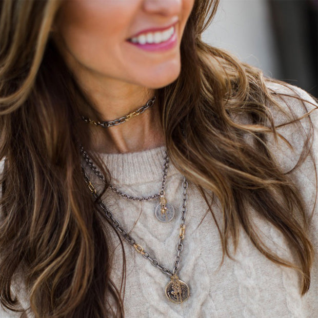 HAPPY HOUR AT TIFFANY'S • Choker & Coin Necklace