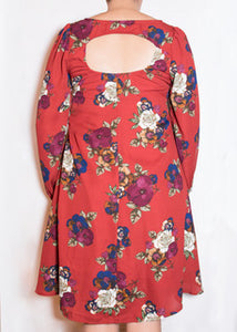 Aster Dress Brick Floral