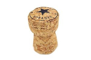 Plush Wine Cork Doorstop