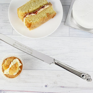 Personalised Swirls & Hearts Cake Knife