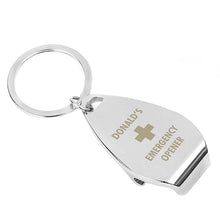 Load image into Gallery viewer, Personalised Emergency Bottle Opener Keyring