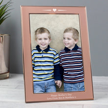 Load image into Gallery viewer, Personalised Rose Gold Heart 4x6 Frame