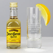 Load image into Gallery viewer, Personalised Tequila Shot Glass and Miniature Tequila