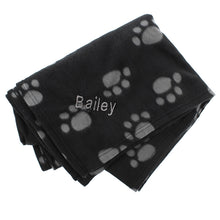 Load image into Gallery viewer, Personalised Dog Paw Print Fleece Blanket