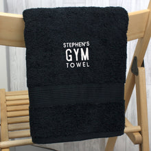 Load image into Gallery viewer, Personalised Gym Black Hand Towel