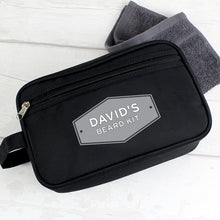 Load image into Gallery viewer, Personalised Plaque Black Wash Bag For Him