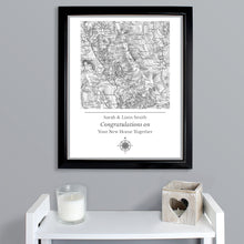 Load image into Gallery viewer, Personalised 1805 - 1874 Old Series Map Compass Black Framed Poster Print