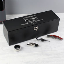Load image into Gallery viewer, Personalised Wine Accessories Gift Box