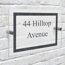 Load image into Gallery viewer, Personalised Slate Effect Acrylic House Sign