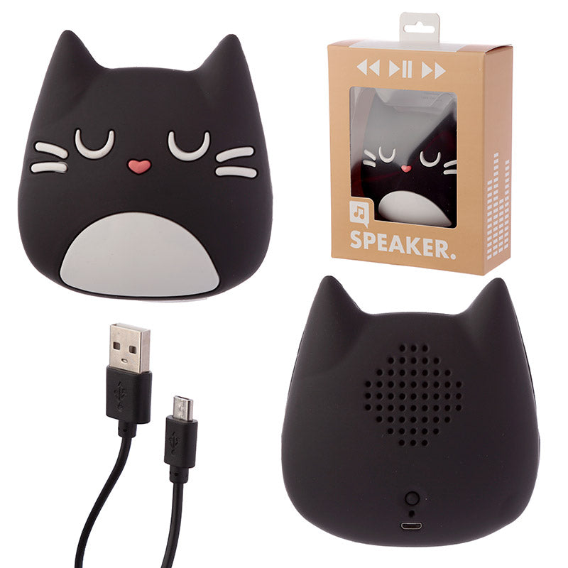 Black Cat Portable Bluetooth Speaker