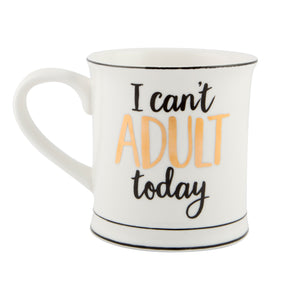 Sass and Belle 'I Can't Adult' Gold Mug