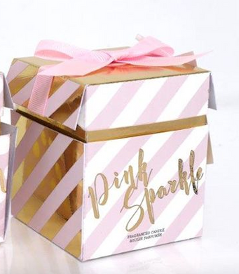 Pink Candle In A Lovely Gift Box With Bow
