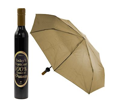Prosecco Bottle Folding Umbrella