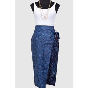 Melia Faux Wrap Skirt