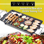 220V Hot Plate Electric BBQ Grill Kitchen Teppanyaki Non-stick Surface 1500W Adjustable Temperature Incredibly Versatile