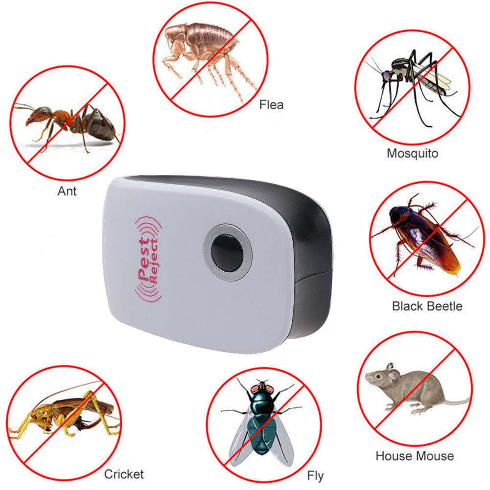 Enhanced Version Electronic Cat Ultrasonic Anti Mosquito Insect Repeller Rat Mouse Cockroach Pest Reject Repellent EU/US/UK Plug