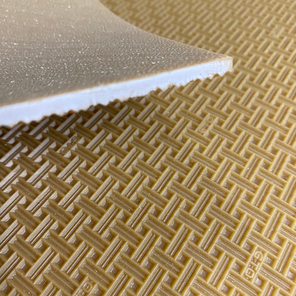Woven tread rubber sole sheet