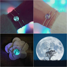 Load image into Gallery viewer, (best seller) Glow in the Dark Moon Bracelet AstroMania