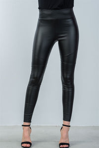 Ladies fashion knee panel ankle zipper moto skinny leggings