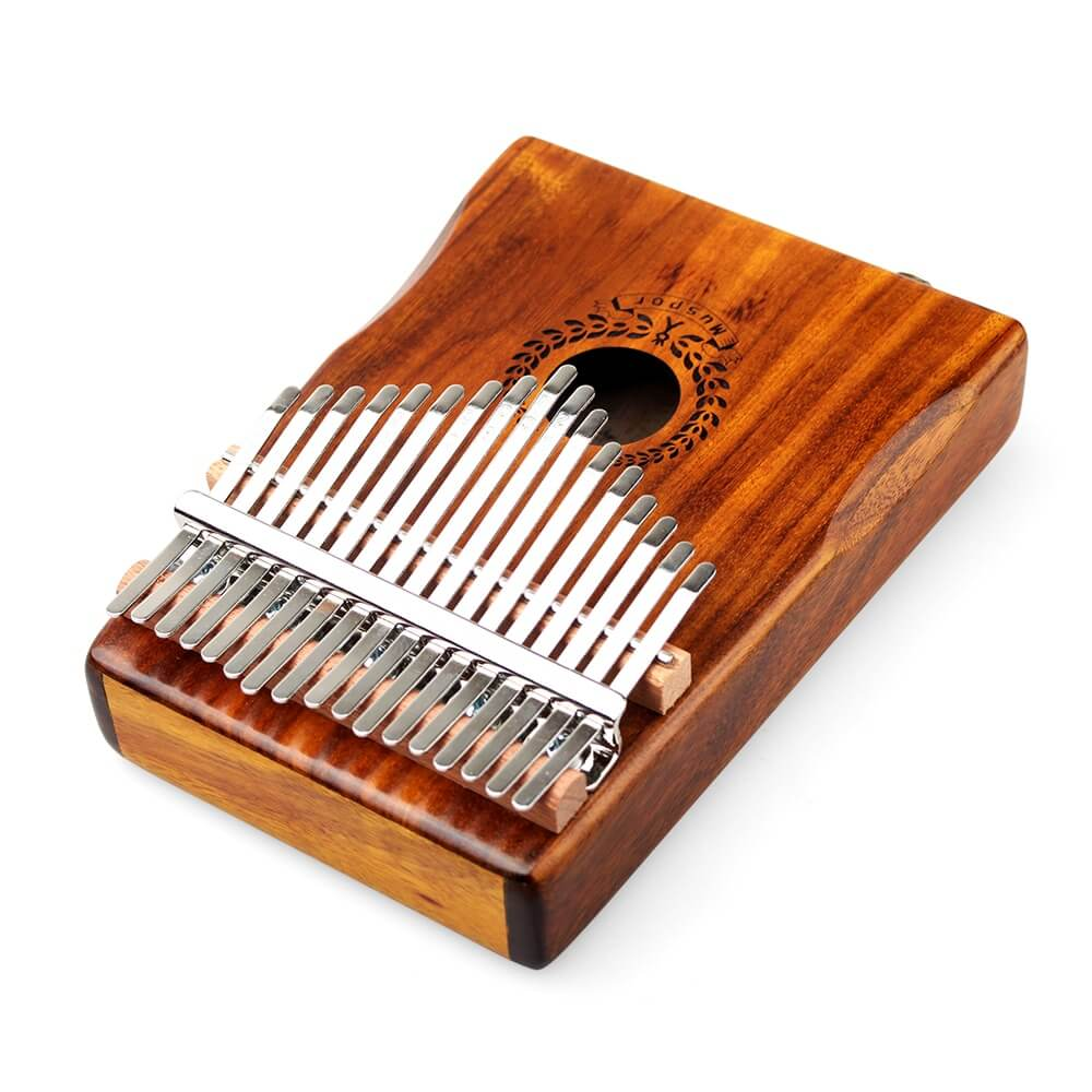 New 17 Keys Kalimba Solid Acacia Link Speaker Electric Pickup with Bag +3 M Cable