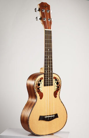 SevenAngel 26 inch Tenor Acoustic Electric Ukulele Ingrid Spruce Grape Style