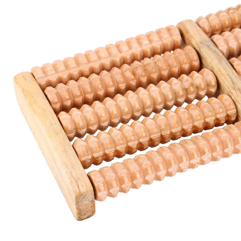 Newly 5 Rows Wheel Wooden Massager 2019