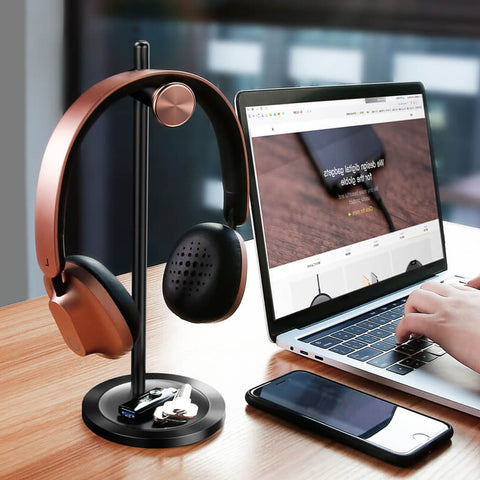 Multifunctional Metal Headphone Holder