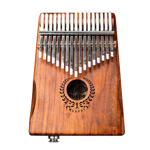 Image of New 17 Keys Kalimba Solid Acacia Link Speaker Electric Pickup with Bag +3 M Cable