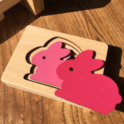 Image of Wooden Toys Animal Carton 3D Puzzle Multilayer Jigsaw Puzzle