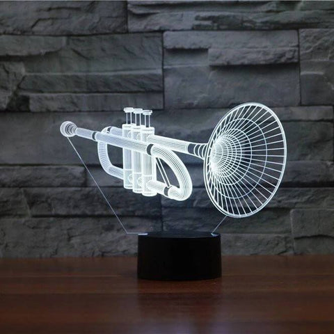 Trumpet 3D LED Illusion Lamp