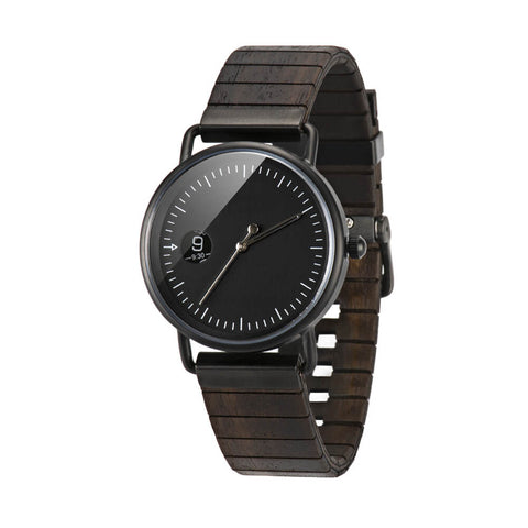 Mexican black King snake wood watch1
